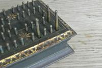 Antique 1863 American Civil War John Gill Hedgehog Cast Iron Cribbage Board (5 of 8)