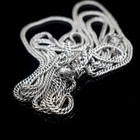 Antique Sterling Silver Long Guard Muff Chain Necklace with Dog Clip (7 of 9)