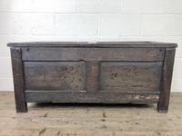 Early 19th Century Antique Oak Coffer Blanket Box (19 of 19)
