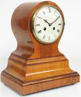 Impressive Solid Walnut Drum Head Striking Mantel Clock PHS Mantle Clock (12 of 12)