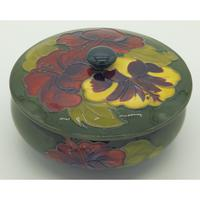 A Walter Moorcroft Hibiscus Lidded Bowl C.mid 20thc (4 of 7)