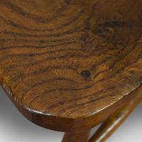 Antique Stick Back Chair, English, Elm, Beech, Station Seat, Victorian c.1870 (2 of 12)