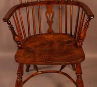Yew Wood low Windsor Chair Rockley Maker (7 of 10)