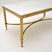 Vintage Italian Solid Brass & Marble Coffee Table (4 of 9)