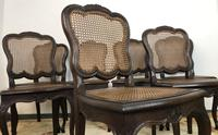 Antique French Set Of 8 Bergère Cane Dining Chairs (7 of 12)