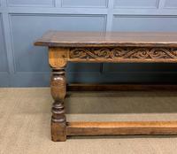 Large Oak Jacobean Revival Refectory Table (7 of 12)