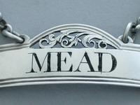 Rare George III Silver Wine Label 'Mead' (2 of 9)