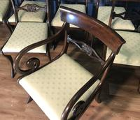 Mahogany Dining Table & Set of 10 Regency Style Chairs (17 of 19)