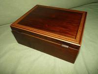 Georgian Inlaid Rosewood Jewellery / Table Box c.1825 (6 of 12)