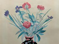Large Original Japanese Inspired Floral Still Life Watercolour Painting (9 of 12)