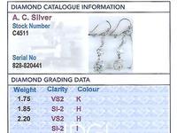 5.80ct Diamond and Platinum Drop Earrings - Antique Circa 1920 (3 of 9)