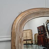Distressed Antique English Overmantle Mirror c.1890 (4 of 5)