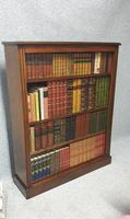 Pair of French Burr Walnut Open Bookcases (13 of 13)