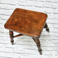 Small Elm Country Stool (4 of 6)