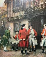 ''Before The Hunt'' Wonderful Large Vintage 18th Century Style Print on Board Picture (4 of 12)