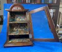 Victorian Oak Miniature Display Cabinet (6 of 11)