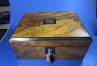Victorian Walnut Jewellery Box (4 of 12)
