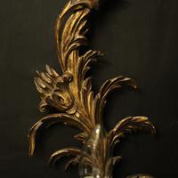 Florentine Pair of Giltwood Leaf Wall Lights (4 of 9)
