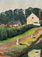 'Lapworth Canal, Warwickshire' Exceptional Vintage Oil on Canvas Painting c1960 (9 of 13)