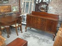 7 Piece Carved Mahogany Ball & Law Dining Set (2 of 9)