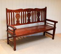 Edwardian Style Mahogany Bench (5 of 11)