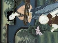 Decorative Chinese Reverse Painting. 1920's (6 of 8)