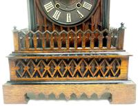 Rare Gallery Cuckoo Mantel Clock – German Black Forest Carved Bracket Clock (12 of 13)