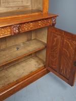 Antique Victorian Golden Oak Open Bookcase (17 of 20)