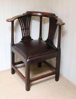 George III Country Elm Corner Chair (3 of 5)