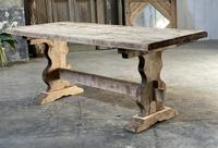 French Bleached Refectory Farmhouse Dining Table (5 of 21)