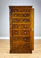 Victorian Burr Walnut Wellington Chest (4 of 10)