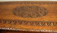 Antique Carved Oak Monks Bench Hall Seat Settle (11 of 11)
