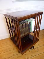 Inlaid Mahogany Revolving Bookcase (5 of 9)