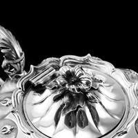 Magnificent Georgian Solid Silver Tea Set / Service 3 Piece Set - Barnard 1835 (11 of 29)