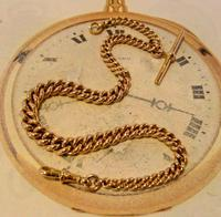 Victorian Pocket Watch Chain 1890s Antique Large 14ct Rose Gold Filled Albert With T Bar (2 of 11)