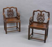 Pair of Chinese Qing Dynasty, Hongmu Chairs (3 of 6)
