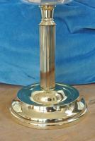 Original Victorian Cut Glass & Brass Oil Lamp - c.1900 Working Order (4 of 7)