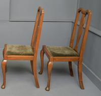 Set of Four 1920s Queen Anne Style Walnut Dining Chairs (7 of 16)