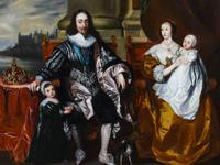 King Charles I & Henrietta After Anthony Van Dyck Royal Family Oil Portrait (3 of 6)