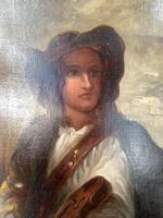 Antique Re-Raphaelite oil painting portrait of a young man with violin (2 of 2) (5 of 10)