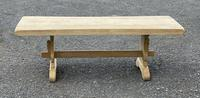 Bleached Oak Trestle End French Farmhouse Dining Table (6 of 22)