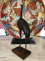 Antique Pair of Japanese Bronze Metal Crane Sculptures (9 of 12)