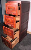 4 Drawer Mahogany 20th Century Filing Cabinet (5 of 7)