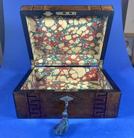 Victorian Burr Walnut  Box With Tunbridge Ware Inlay. (8 of 12)