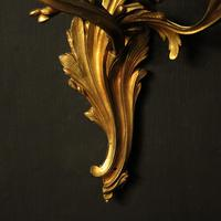 French Pair Of Bronze Antique Wall Sconces (8 of 8)