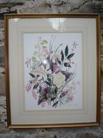 Watercolour of mixed Spring Flowers: Diana Snagge (2 of 2)