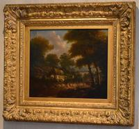 Fine cottage scene oil painting (7 of 9)