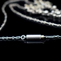 Antique Old Cut Blue Paste Drop Sterling Silver Pendant Necklace (3 of 12)