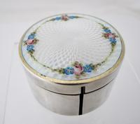 Beautiful silver and Enamel stamp-roll box Austria c1920 (4 of 6)
