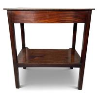 Early Victorian Mahogany Side Table with Lower Shelf (3 of 5)